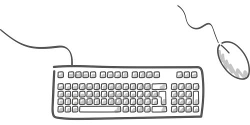 mysz i klawiatura komputerowa
